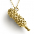Neckpiece: Gold Golden Protea