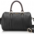 Ladies small black leather doctor's bag