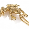 Neckpiece: Gold and Diamond Ghost Frog